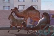 《模拟山羊》DLC超级秘密 坐轮椅的海豚见过没