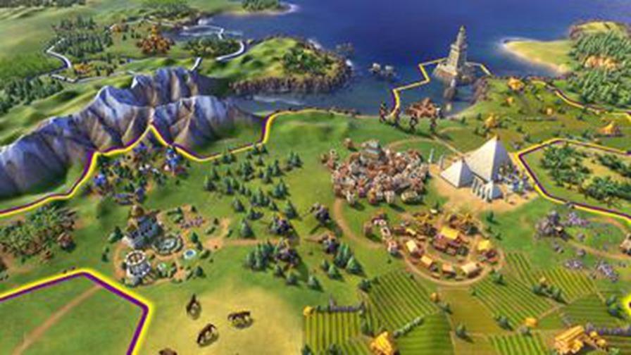 策略战棋 slg > 文明6  在《文明6》里城市将实际在地图上扩张,创造出图片