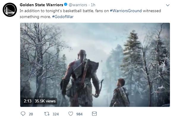 《战神4》勇士主场全新预告 奎爷父子掉进冰洞