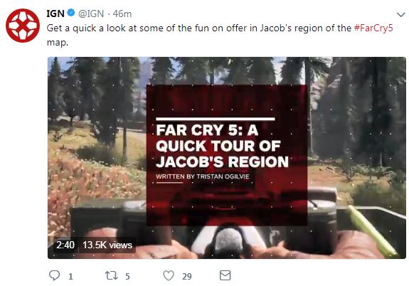 《孤岛惊魂5》Jacob领地演示