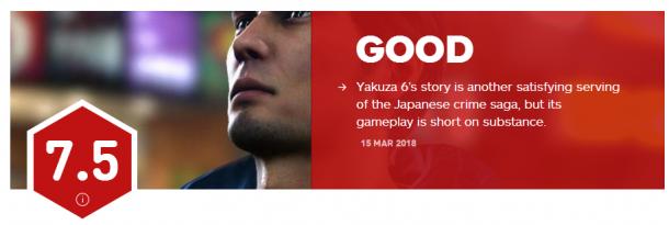 7.5分 《如龙6:命之诗》IGN评分出炉 圆满的句号