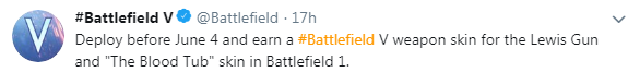 《战地5》刘易斯式轻机枪皮肤曝光 可玩战地1获得
