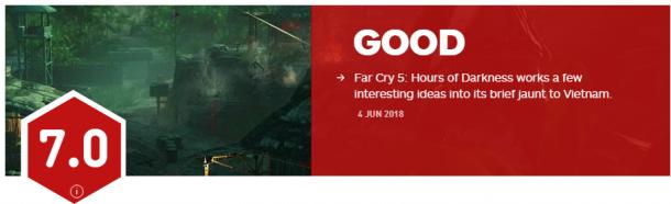 《孤岛惊魂5》越战DLC IGN 7分