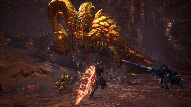 《怪物猎人:世界》烂辉龙将登陆PC 金光闪闪耀眼