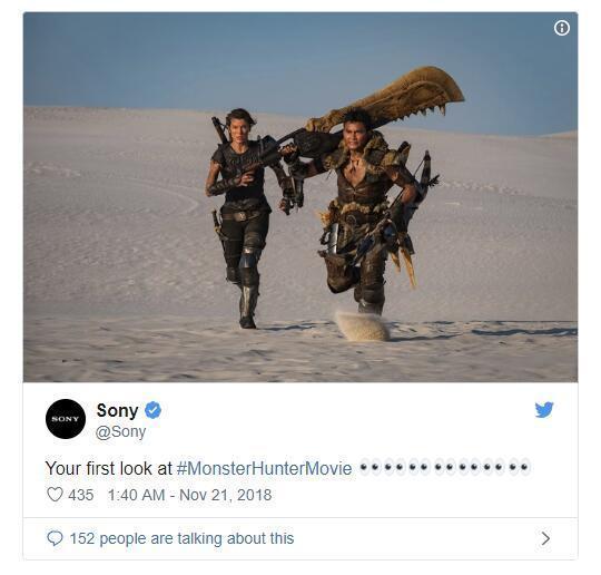 这次还原了?索尼公布《怪物猎人》电影首张官方剧照