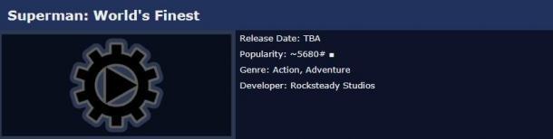 "Rocksteady""超人""新作已在外网上架 或于TGA公开"