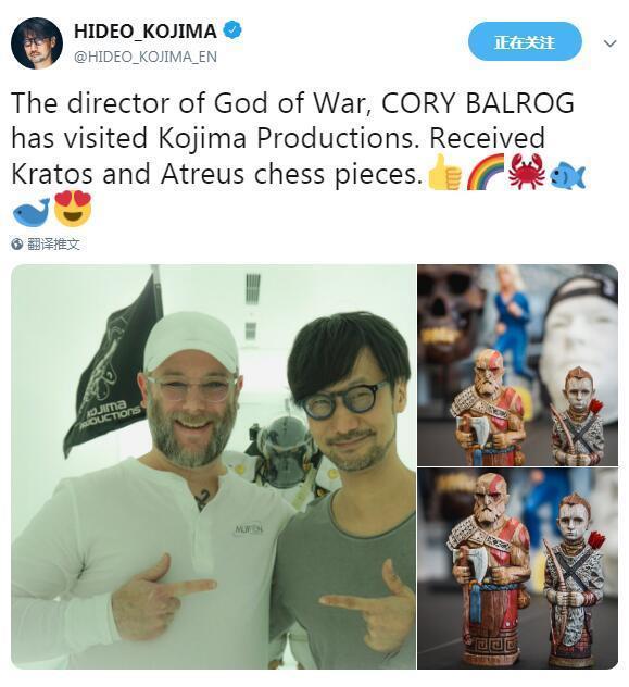 《战神4》总监受邀拜访小岛工作室 激动溢于言表
