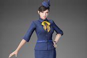 《真三国无双8》服装DLC 甄姬穿空姐制服