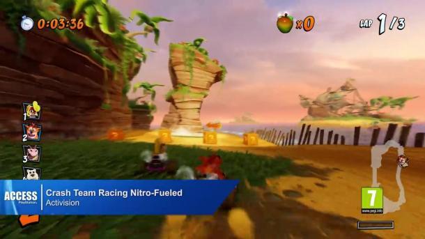 《古惑狼赛车》PS原版与PS4重制版对比视频展示