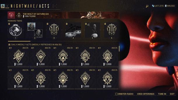 《星际战甲》土星六号之狼全平台发布 全新等级奖励制度