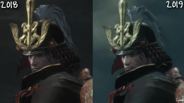 《只狼:影逝二度》早期版与新版对比 视觉效果进化
