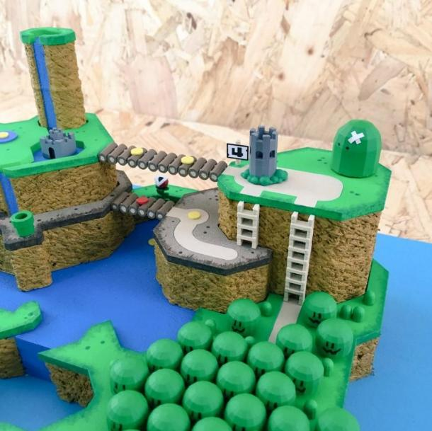 吓死你!大神打造《超级马里奥世界》3D实物地图