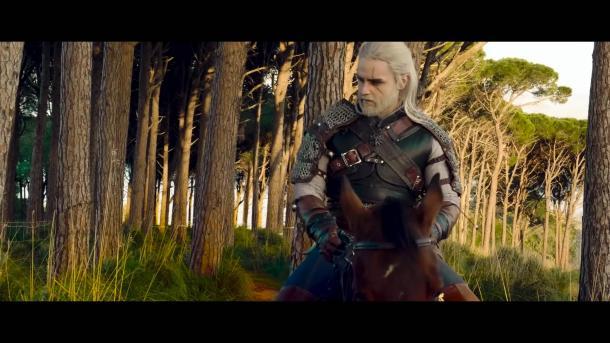 國外粉絲自制《巫師3》電影 白狼杰洛特還原度高