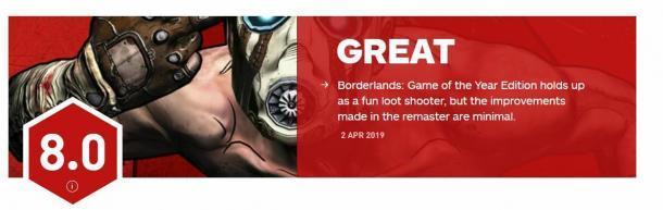 足够优秀提升有限!《无主之地年度版》IGN评分8.0