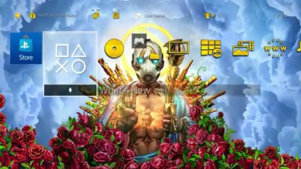 《无主之地3》PS4主题现已上线 预购游戏玩家可得