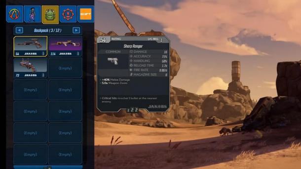 大作《无主之地3》菜单UI大变革 一目了然更加便利
