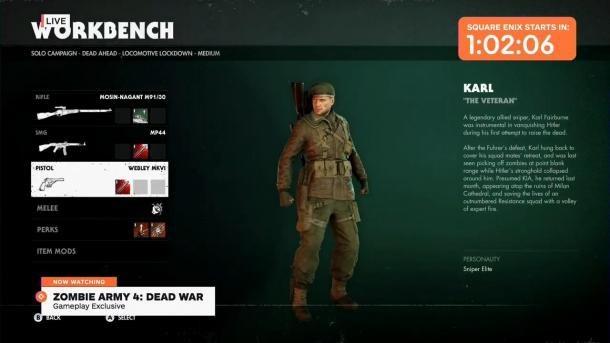 E3:《僵尸部队4:死亡战争》19分钟演示首曝