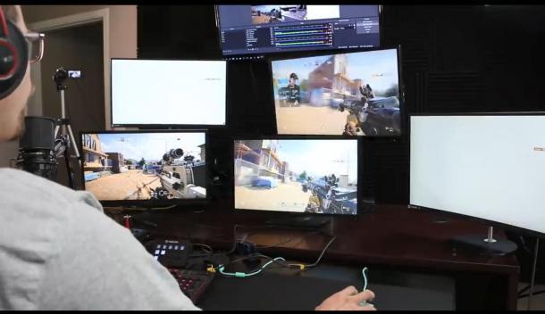 单人操控五台PC打《彩虹六号:围攻》排位 居然还能赢!