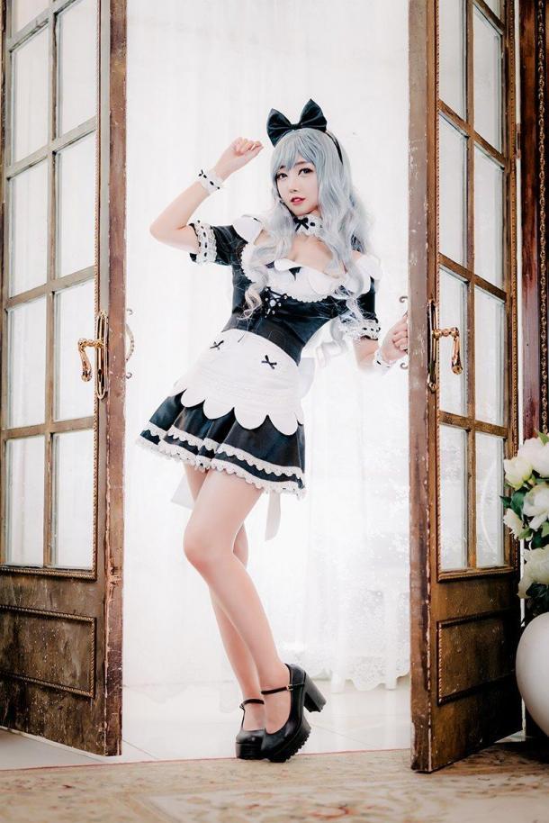 韓妹COS《黑色沙漠》美圖 穿女仆裝性感火辣迷人