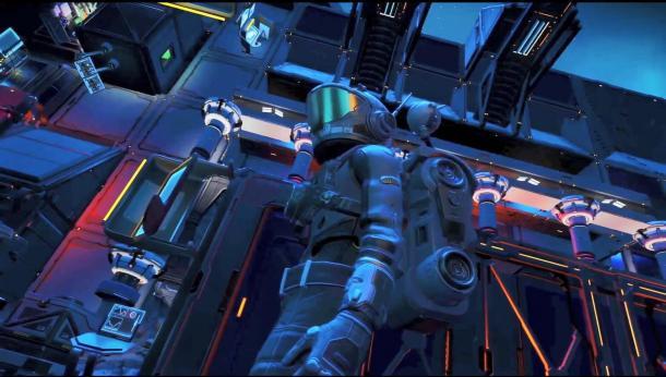 炫光流彩!玩家在《无人深空》中搭建赛博朋克风城市