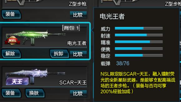 逆战全SCAR系列伤害数据表