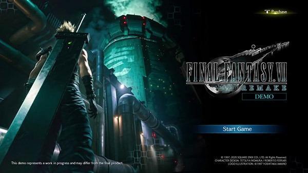 《最終幻想7:重制版》Demo開頭場景視頻泄露