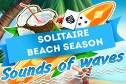 纸牌海滩季节的海浪声