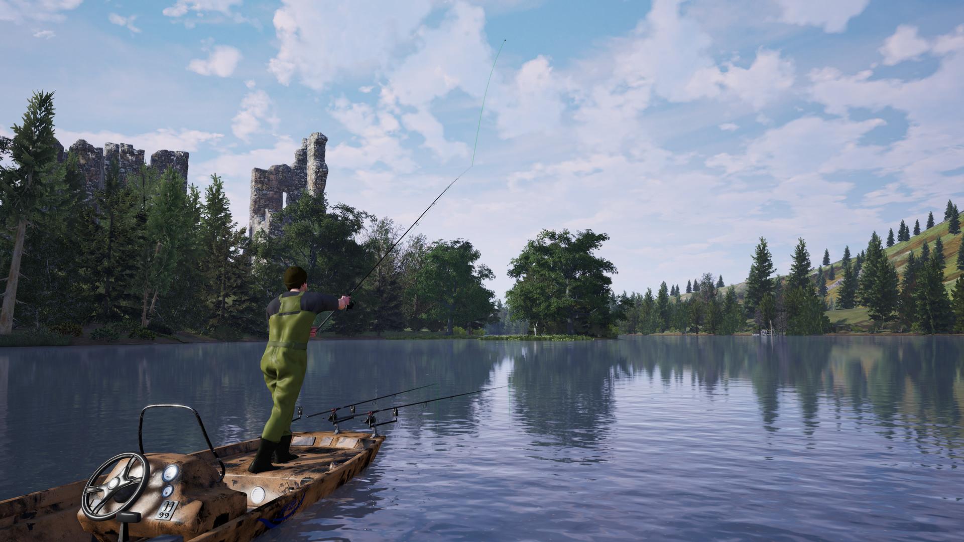 捕获物:鲤鱼和大鱼图片