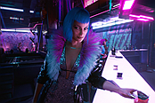 《赛博朋克2077》官方公布新NPC角色 艾芙琳帕克登场