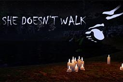 她不会走路