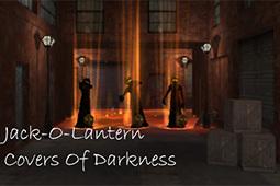 黑暗中的南瓜灯罩