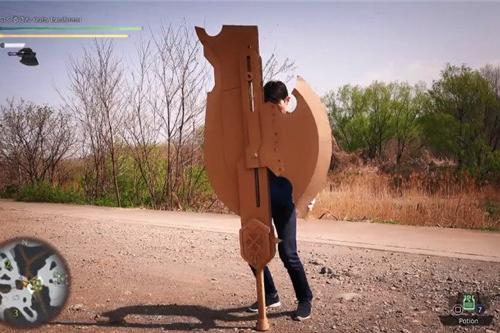 油管UP自制《怪物猎人》斩斧 可切换形态