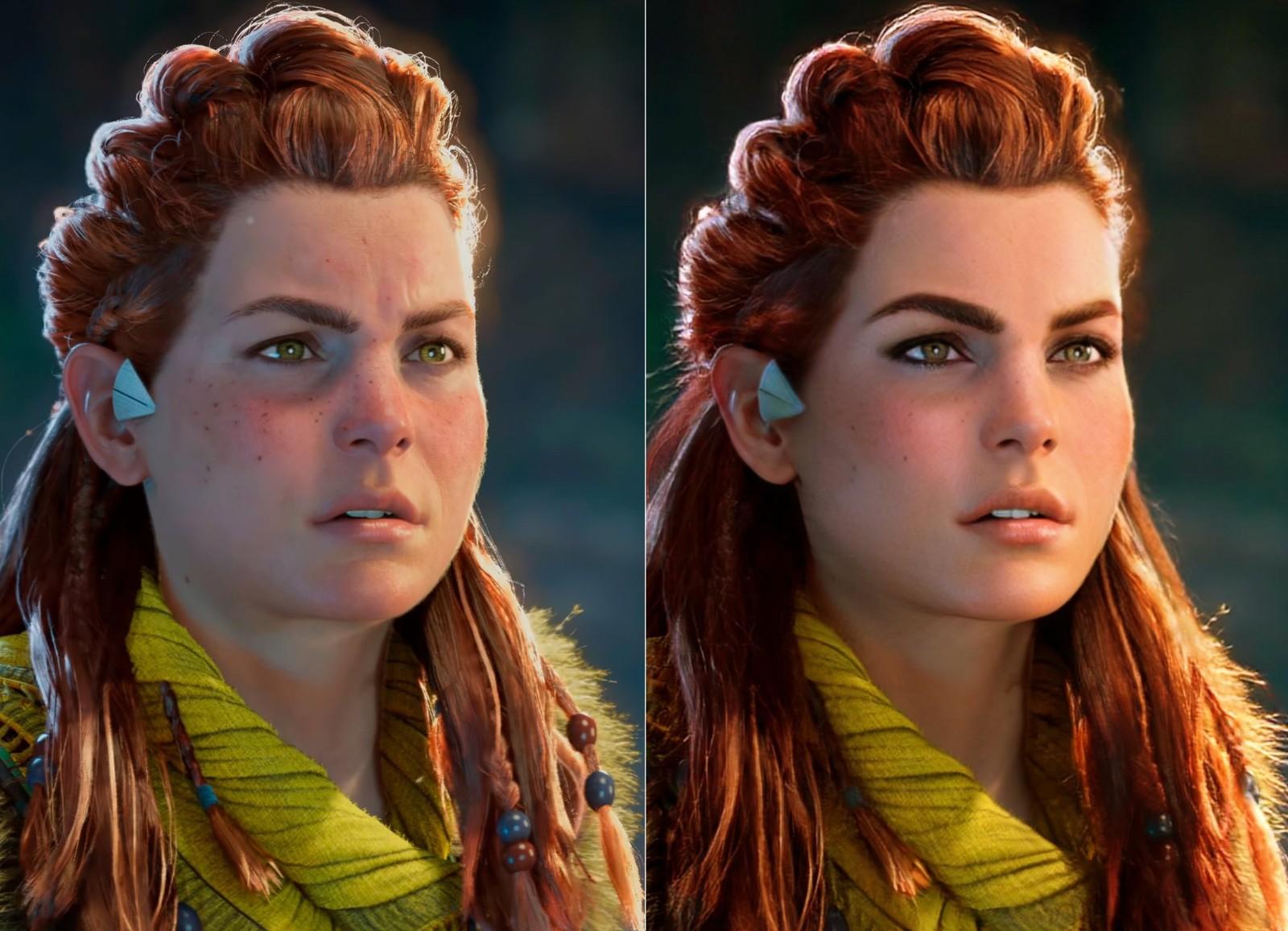 《地平线:西部禁域》女主形象变胖 玩家不满开始恶搞 游戏资讯 第2张