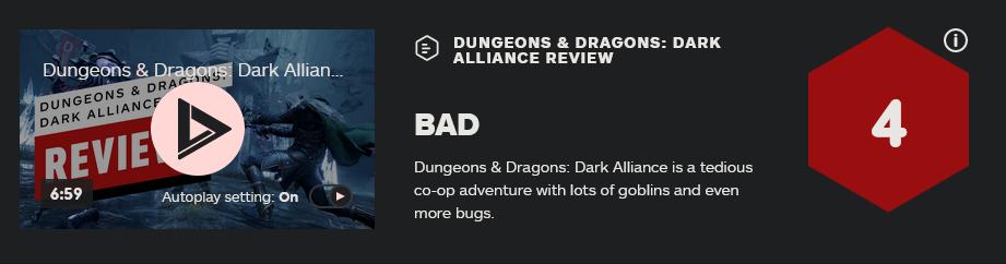 《龙与地下城:黑暗联盟》现正式发售 评分翻车大暴死 游戏资讯 第4张