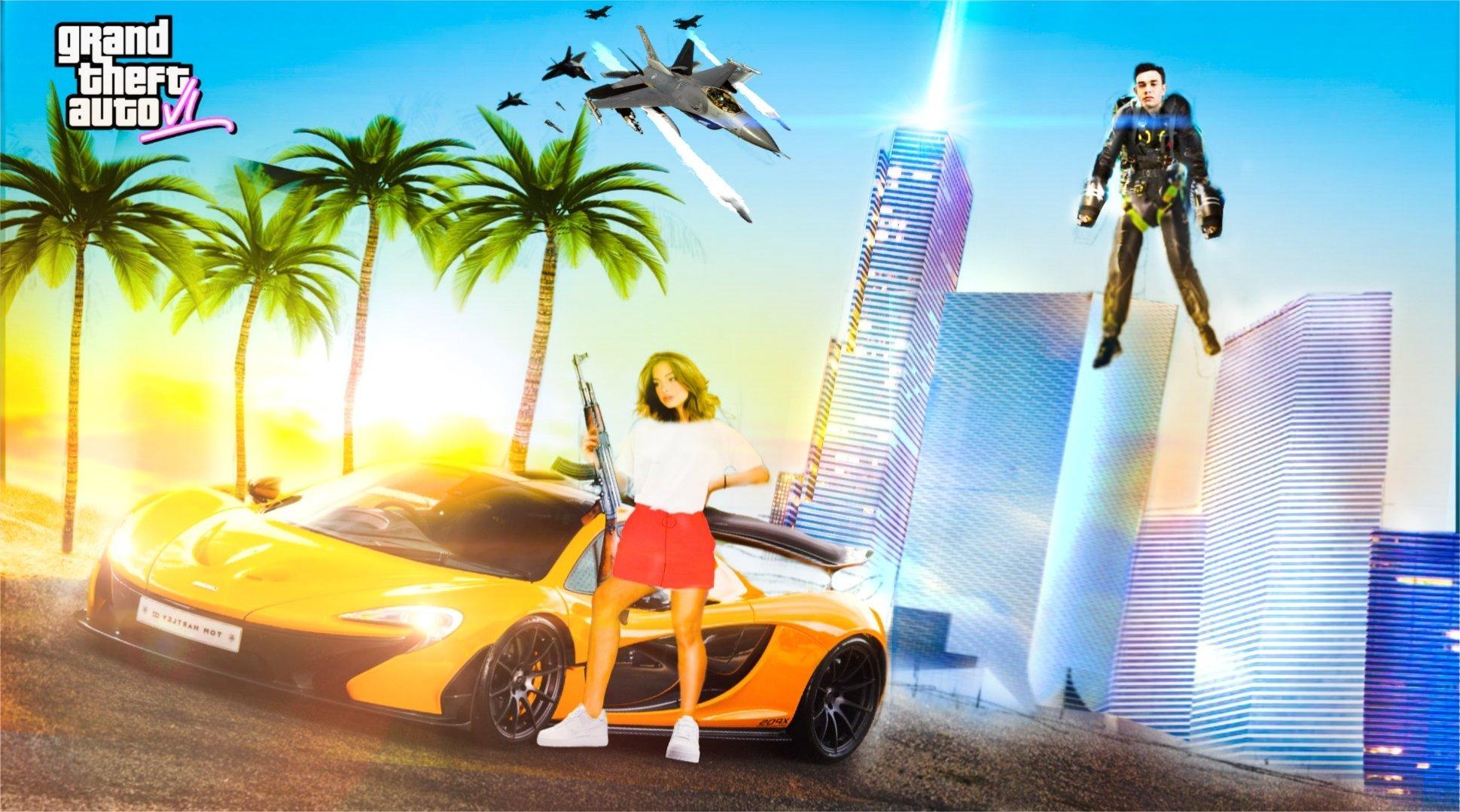 《GTA 6》泄露信息已被多个渠道证实 手绘宣传图公开 游戏资讯 第2张